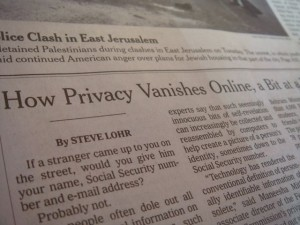 Privacy Vanishes?